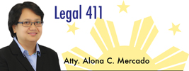 Legal 411 by Alona C. Mercado