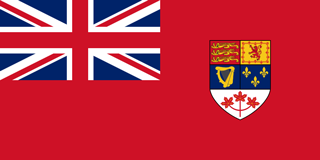 Canadian Red Ensign 1957 to 1965
