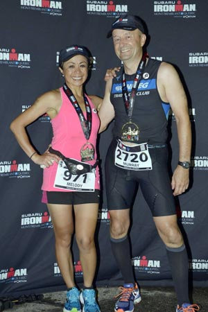 Triathletes Melody Balane and Murray Vanderpont