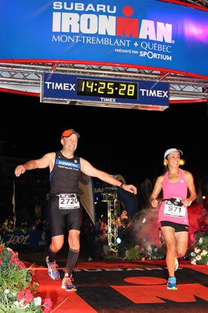 Triathletes Murray Vanderpont and Melody Balane