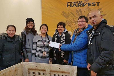 Dec 2016 Donation Winnipeg Harvest
